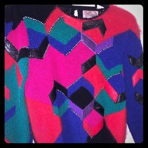 Vintage multi colored sweater